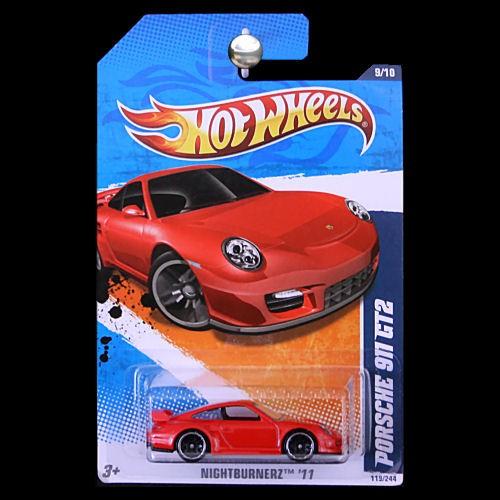 hot wheels 2011 nightburnerz porsche 911 gt2 red. Black Bedroom Furniture Sets. Home Design Ideas