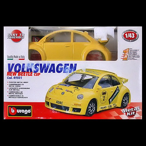 Bburago Burago 1 43 New Beetle Cup 2000 Yellow Rsi