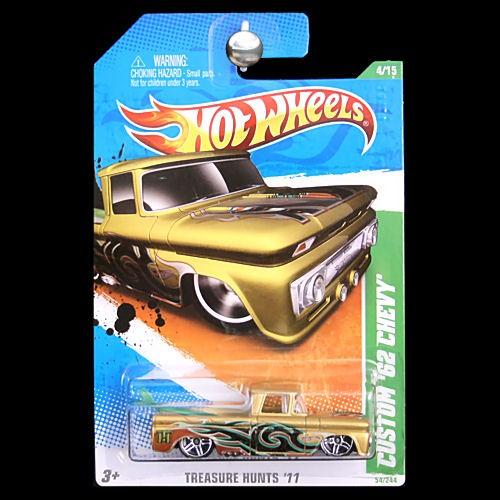 Hot Wheels 2011 Treasure Hunts Custom 62 1962 Chevy Truck