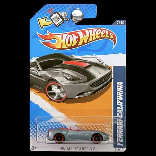 Hot Wheels 2012 HW All Stars Ferrari California Silver