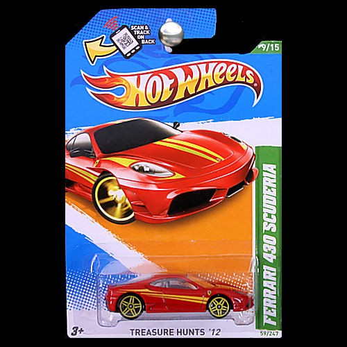 File Ferrari F430 Scuderia Wheel Jpg: Hot Wheels 2012 Treasure Hunts Ferrari F430 Scuderia Red