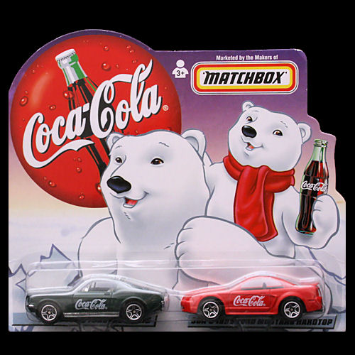 Matchbox 1999 Dad And Son Coca Cola Set Ford Mustang Pair