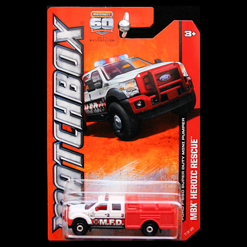 Matchbox 2013 MBX Heroic Rescue Ford F-550 Super Duty Mini