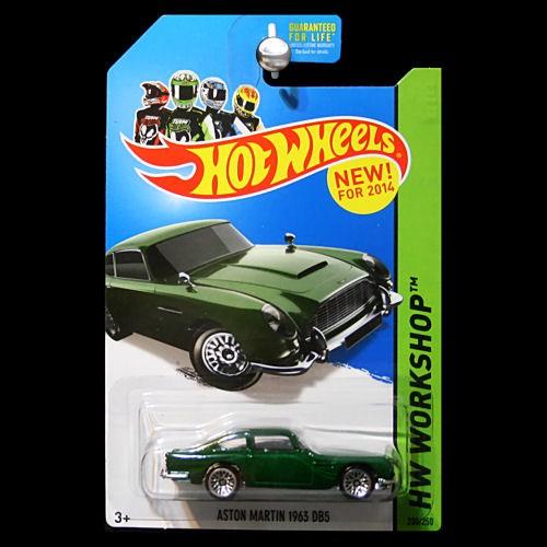 Aston Martin Db5 Hot Wheels: Hot Wheels 2014 HW Workshop 1963 Aston Martin DB5 In Green