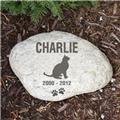 Engraved Cat Memorial Garden Stone Personalized Cat Memorial Garden Stone Marker