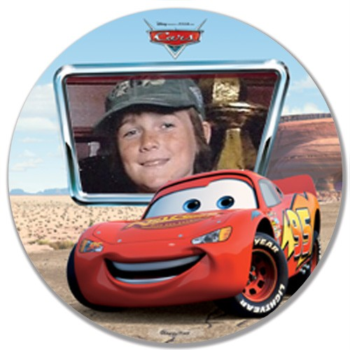 DISNEY'S LIGHTENING MCQUEEN PLATE YOUR CHILDS PHOTO