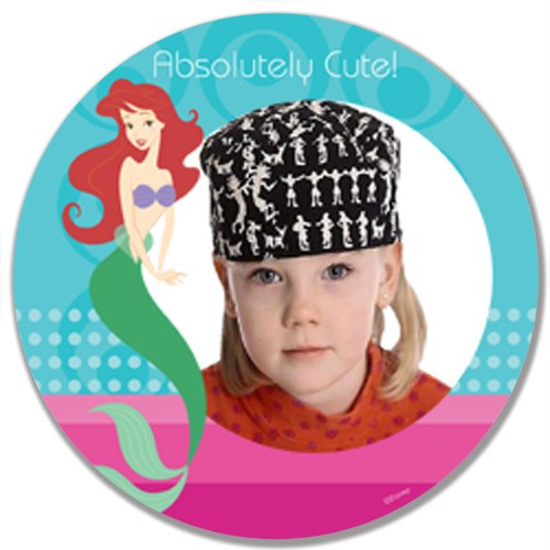 Personalized Disney Photo Plate, Ariel Little Mermaid Plate