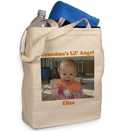 Personalized Photo Canvas Tote Bag