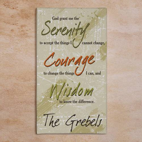 Serenity Prayer Wall Art personalized serenity prayer wall canvas family name christian