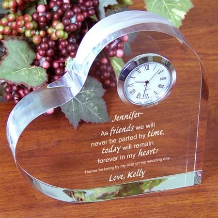 Personalized Friends Keepsake Clock