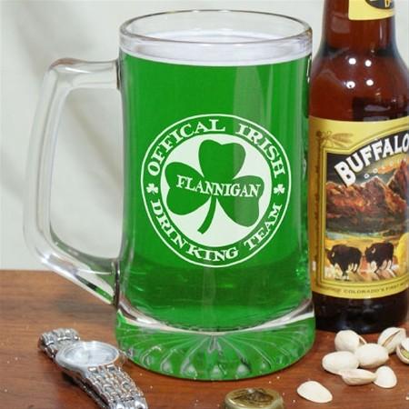 Personalized Irish Drinking Team Sports Mug