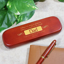 Personalized Dad Engraved Rosewood Pen Set for Dad