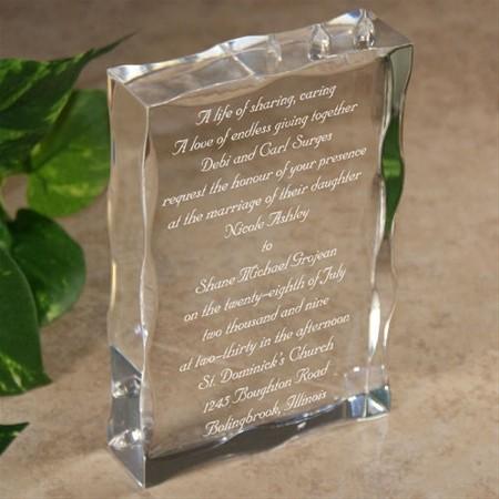 ... Invitation Keepsake Block, Personalized Wedding Invitation Keepsake