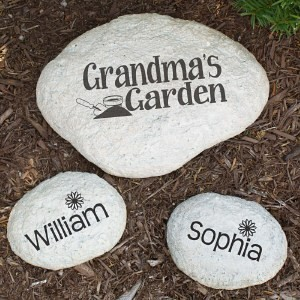 Personalized my garden stone engraved large garden stone for Personalized garden stone