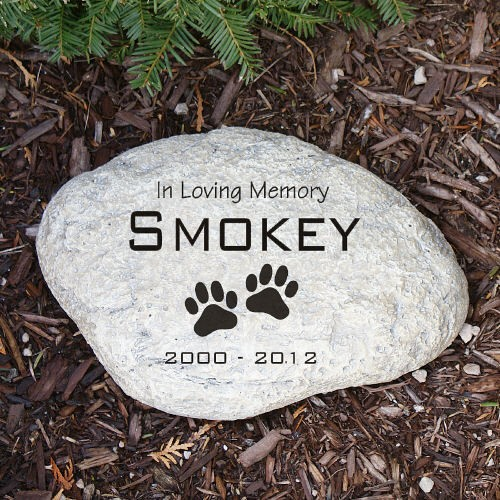 Personalized Pet Memorial Garden Stone Engraved Dog Memorial Garden Stone Marker