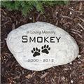 Personalized Pet Memorial Garden Stone Engraved Dog Memorial Garden Stone Marker