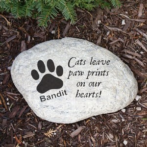Personalized Cat Memorial Garden Stone Engraved Cat Memorial Garden Stone Marker