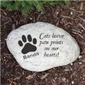 Personalized Cat Memorial Garden Stone Engraved Cat Memorial Garden Stone Marker