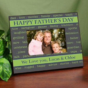 Personalized Happy Fathers Day Picture Frame Fathers Day Printed Photo Frame