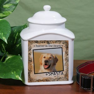 Personalized Dog Memorial Urn Dog or Cat Photo Urn Pet Memorial Cremation Urn