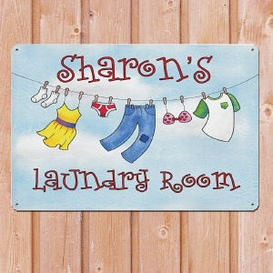 Personalized Metal Laundry Room Sign Custom Name My Laundry Room Metal Sign