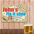 Personalized Mr Fix It Metal Wall Sign DIY My Fix-it Shop Garage Workshop Sign