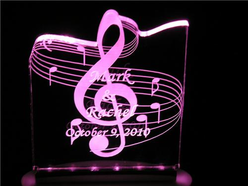 Personalized Birthday or Any Occasion Music Cake Topper Optional LED Light 8 col