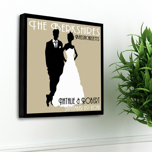 Personalized Wall Decor personalized wedding canvas personalized art couples wedding gift