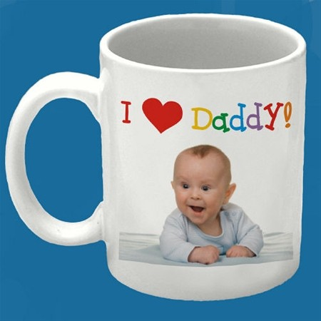 FATHERS DAY PERSONALIZED PHOTO MUG I LOVE DADDY