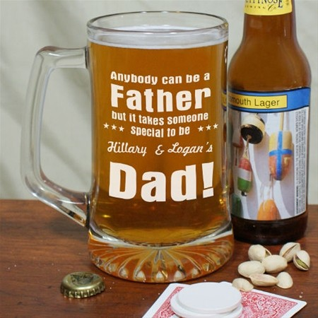 Personalized Special Father Glass Sports Mug