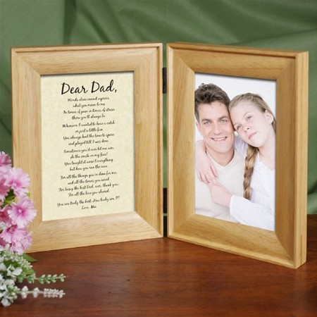 Personalized Father Picture Frame, Bi-fold Father's Day Photo Frame