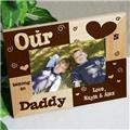 Personalized Our Daddy Picture Frame, Father's Day Gift