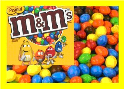 10.5 lbs M&M Peanut Bulk Candy FREE Labels & Shipping ...