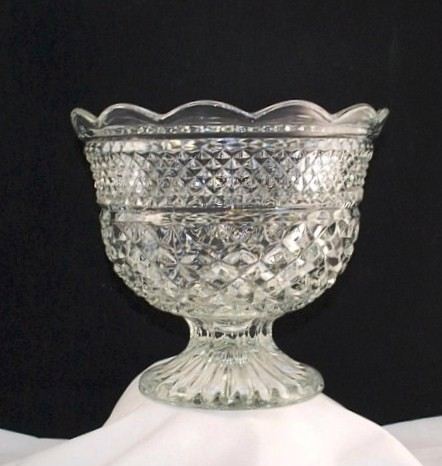 Anchor hocking crystal clear wexford footed centerpiece bowl carolinabluelady - Footed bowl centerpiece ...
