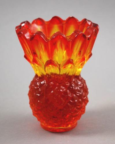 Indiana Amberina Pineapple Candleholder 1