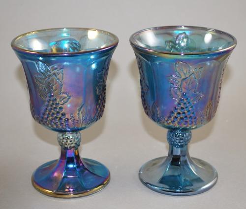 Indiana Carnival Harvest Blue Goblets 1