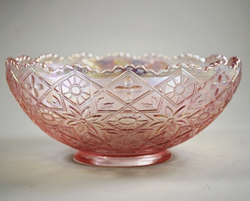 Imperial Hattie Pink Carnival Bowl 6