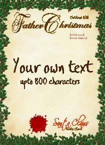 Letter From Santa - Blank Customisable Template
