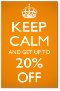 Keep Calm 20% Off