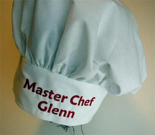 embroidered chef hats