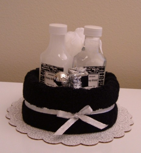 Black & White Spa Cake - Honey Almondt Scented.jpg