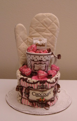 Pink & Brown Chocolate Coffee Cake - Front View.jpg