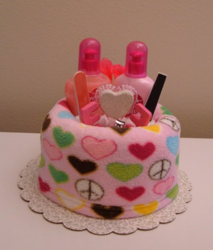 Peace & Love Spa Wrap Cake - Front View.jpg
