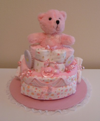 2 Tier Pink Cupcakes - Cloth Diapers.jpg