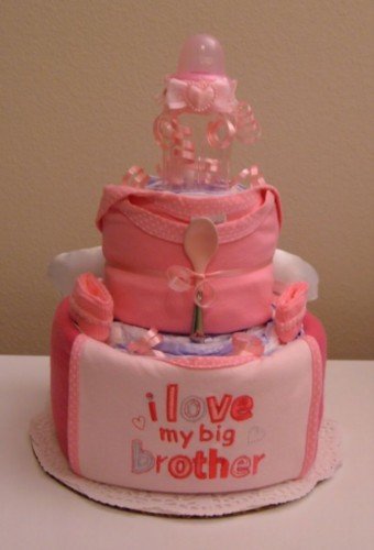 2 Tier Pink I Love My Big Brother - Front View.jpg