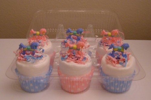 Pink &amp; Blue Rocking Horse Cupcake 6 pack.jpg