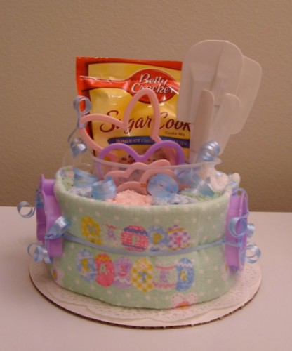 Easter Sugar Cookie Kitchen Towel Cake - Front View.jpg