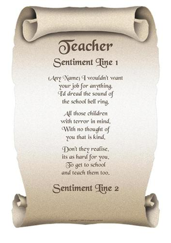 poem describing teachers