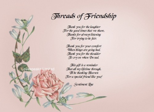 Poems About Friendship Short