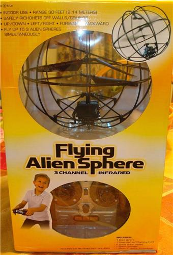 New Flying Alien Sphere UFO 3 Channel Infrared Radio Control RC UFO Toy